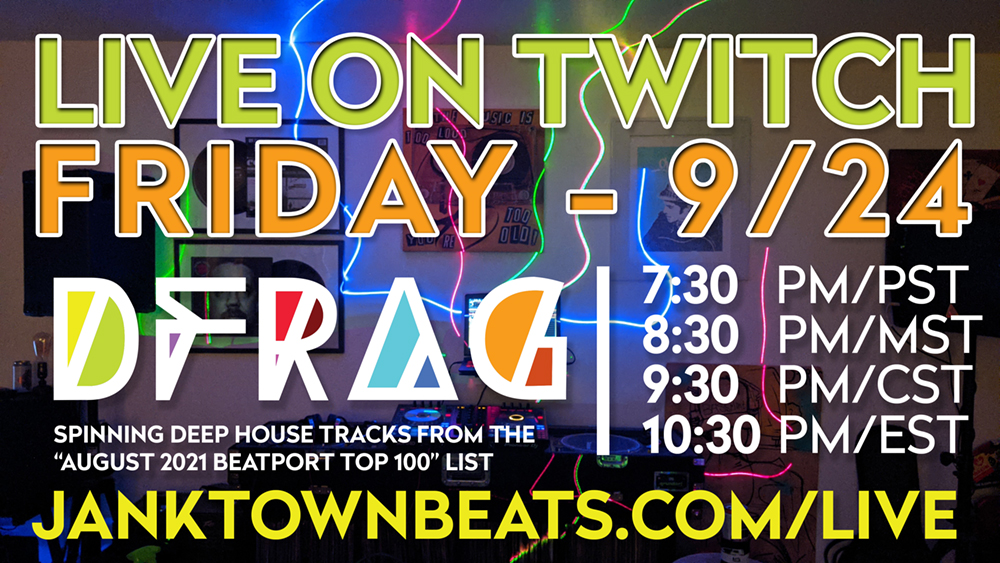 D-Frag Deep House DJ On Twitch